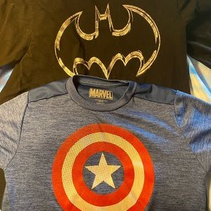 Bundle: S/S Captain America and L/S Batman Tees